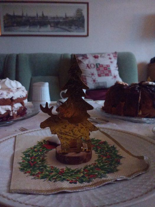 Tischdeko an Weihnachten