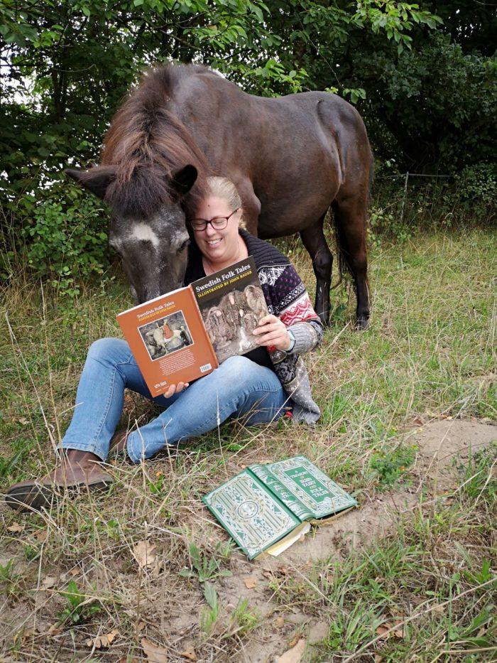 Gladur und ich lesen ein Buch